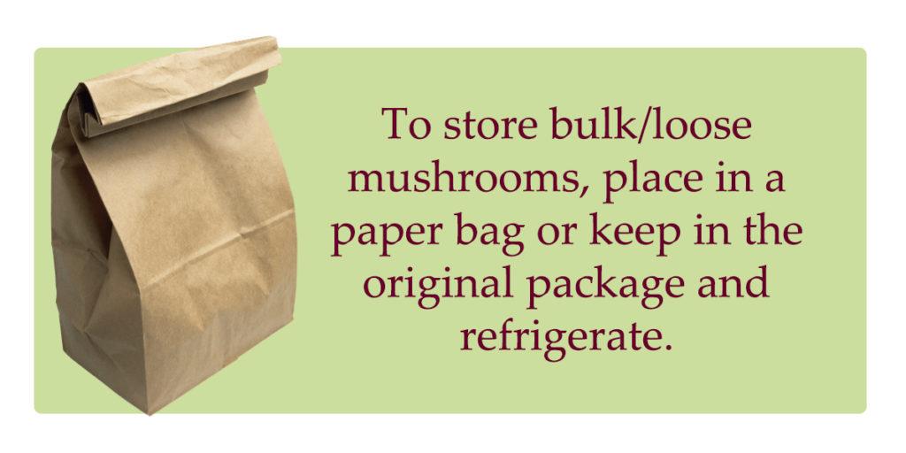 shiitake mushrooms storage