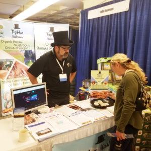 top hat mushrooms organic shiitake trade show