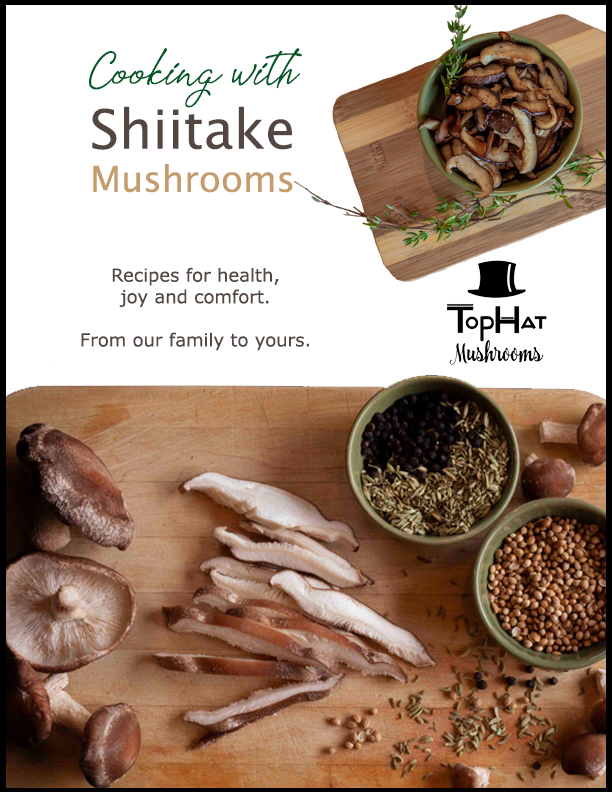 shiitake recipe book cover ebook