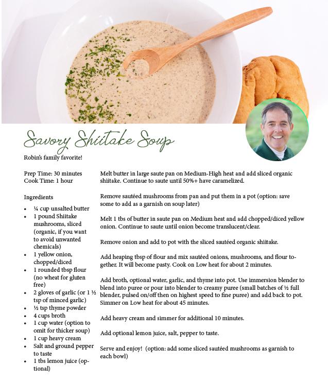 savory shiitake soup recipe top hat mushrooms
