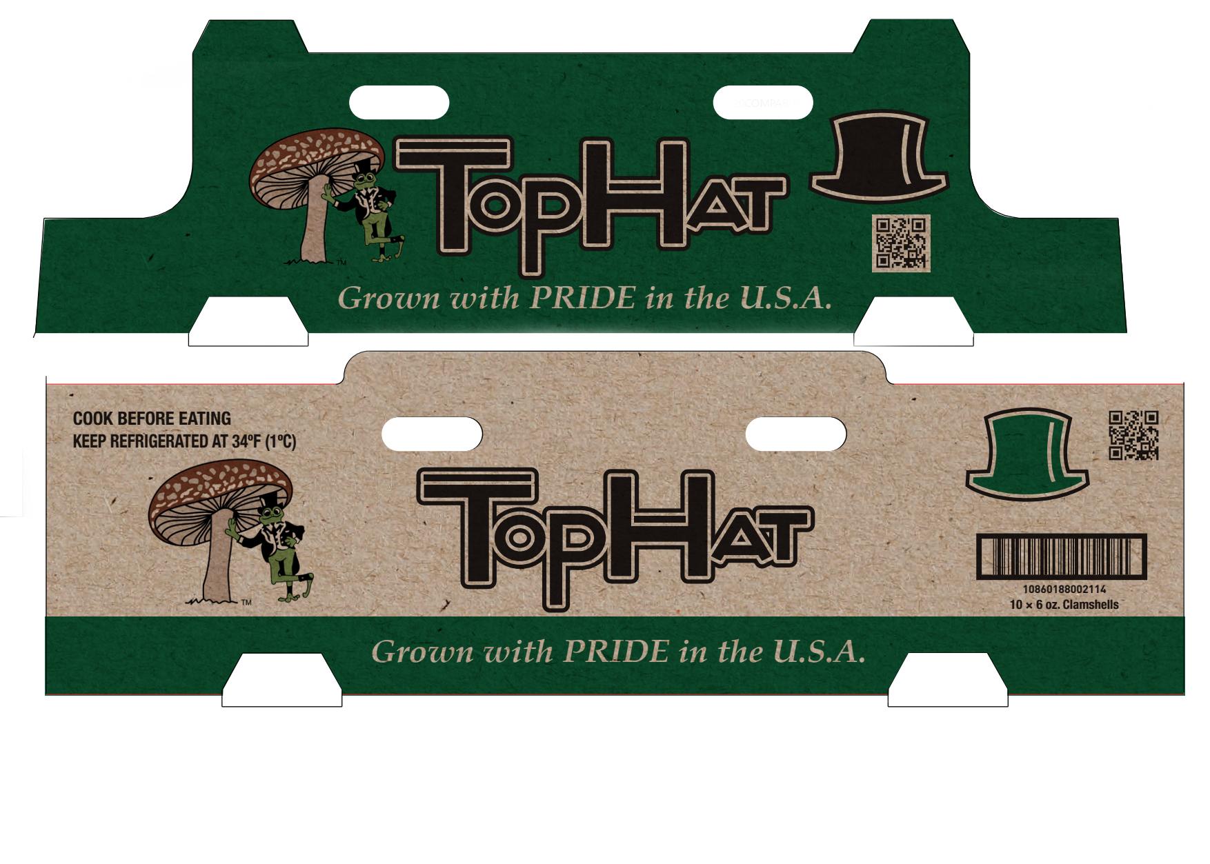 top hat mushrooms kraft printed boxes